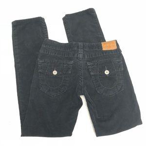 True Religion Velour / Velvet Pants Straight Leg